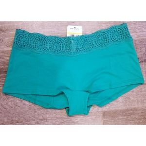 FREE PEOPLE Emerald Lace Trim Boyshort